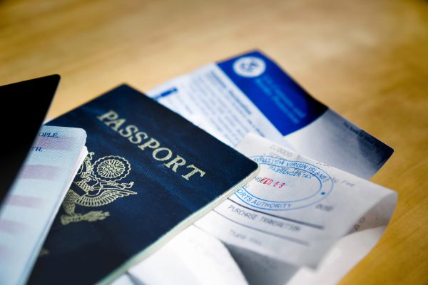passports and receipts